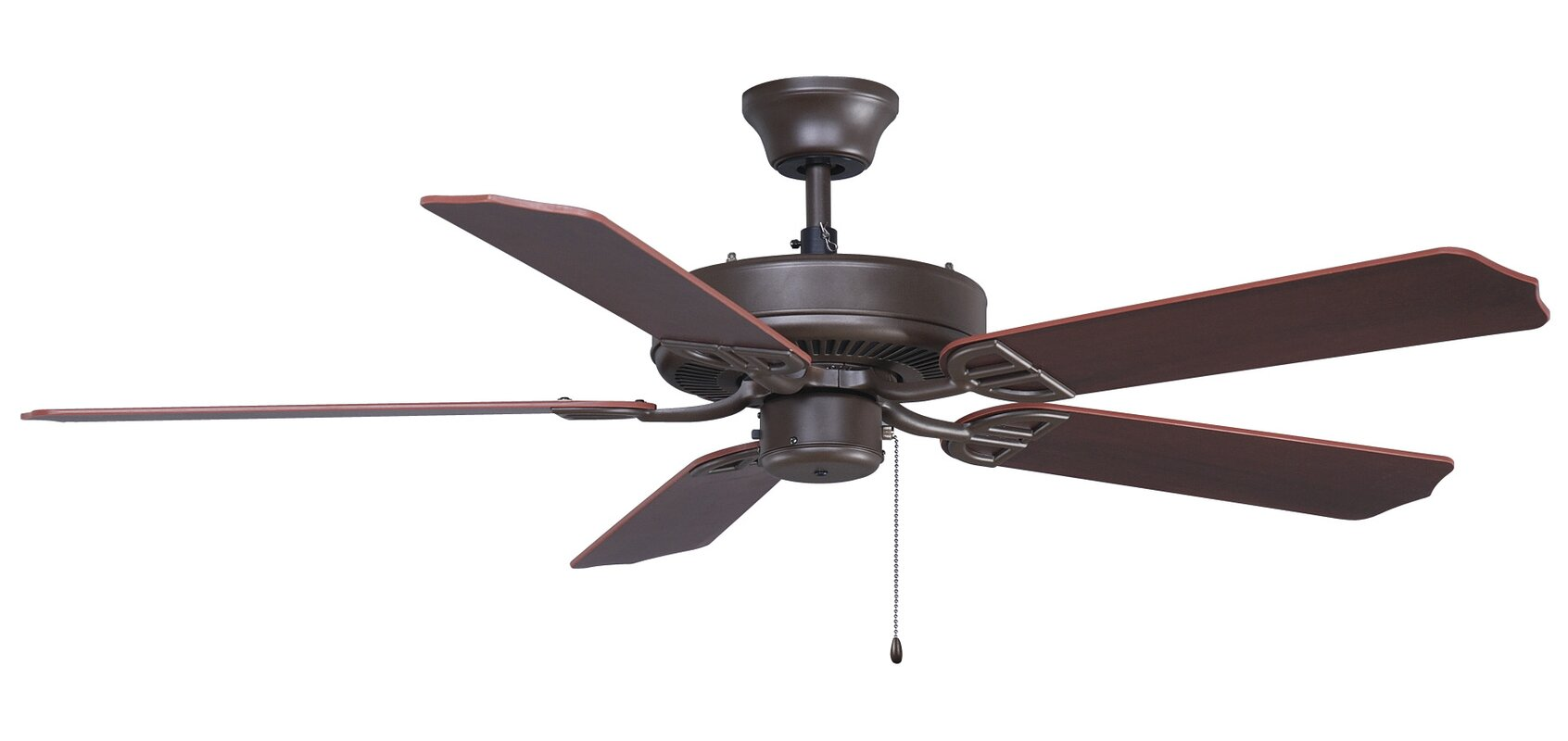 "Fanimation 52"" Builder 5 Blade Indoor Outdoor Ceiling Fan"