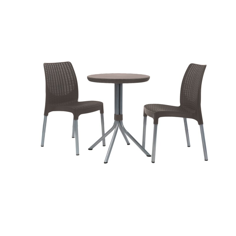Mercury Row Steveson 3 Piece Resin Bistro Set & Reviews | Wayfair