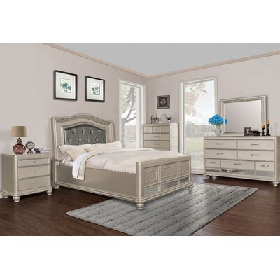 Panel 5 Piece Bedroom Set BestMasterFurniture
