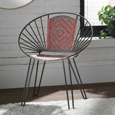 Contemporary Gunmetal Accent Chair Decor+