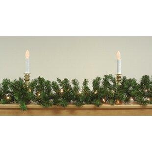 9' Pre-Lit Oak Creek Pine Artificial Christmas Garland