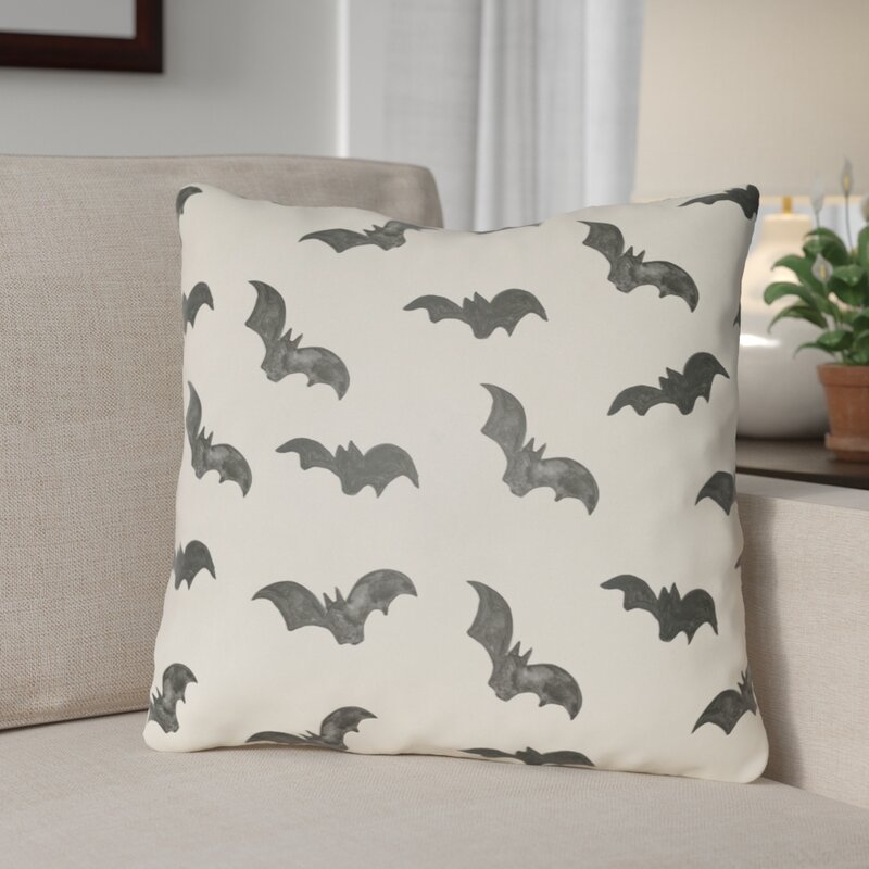 The Holiday Aisle Dreher Bat Indoor Outdoor Throw Pillow Reviews Wayfair
