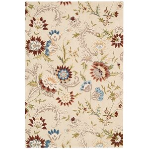 Elderton Hand-Tufted Beige Area Rug