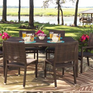 All-Weather Miami Rectangular Wicker Dining Table