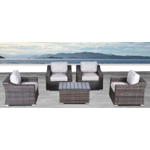 Huddleson 5 Piece 2 Person Seating Group with Cushions