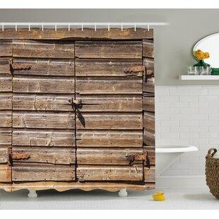 Asuka Abandoned Vintage Farm Shower Curtain + Hooks