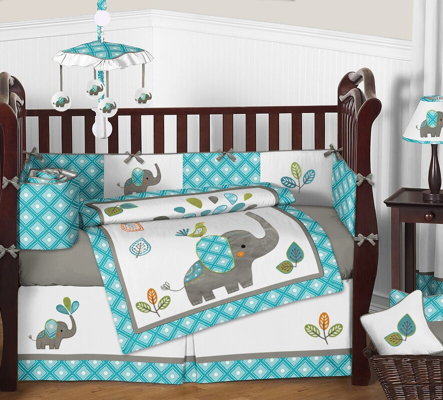 bed boy boys s baby elephant products set nursery com crib grey ac amazon bedding blizzard piece geenny boutique blue sets