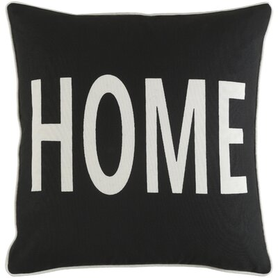 Ivy Bronx Yahya Home Cotton Throw Pillow Cover Color: Black/ White