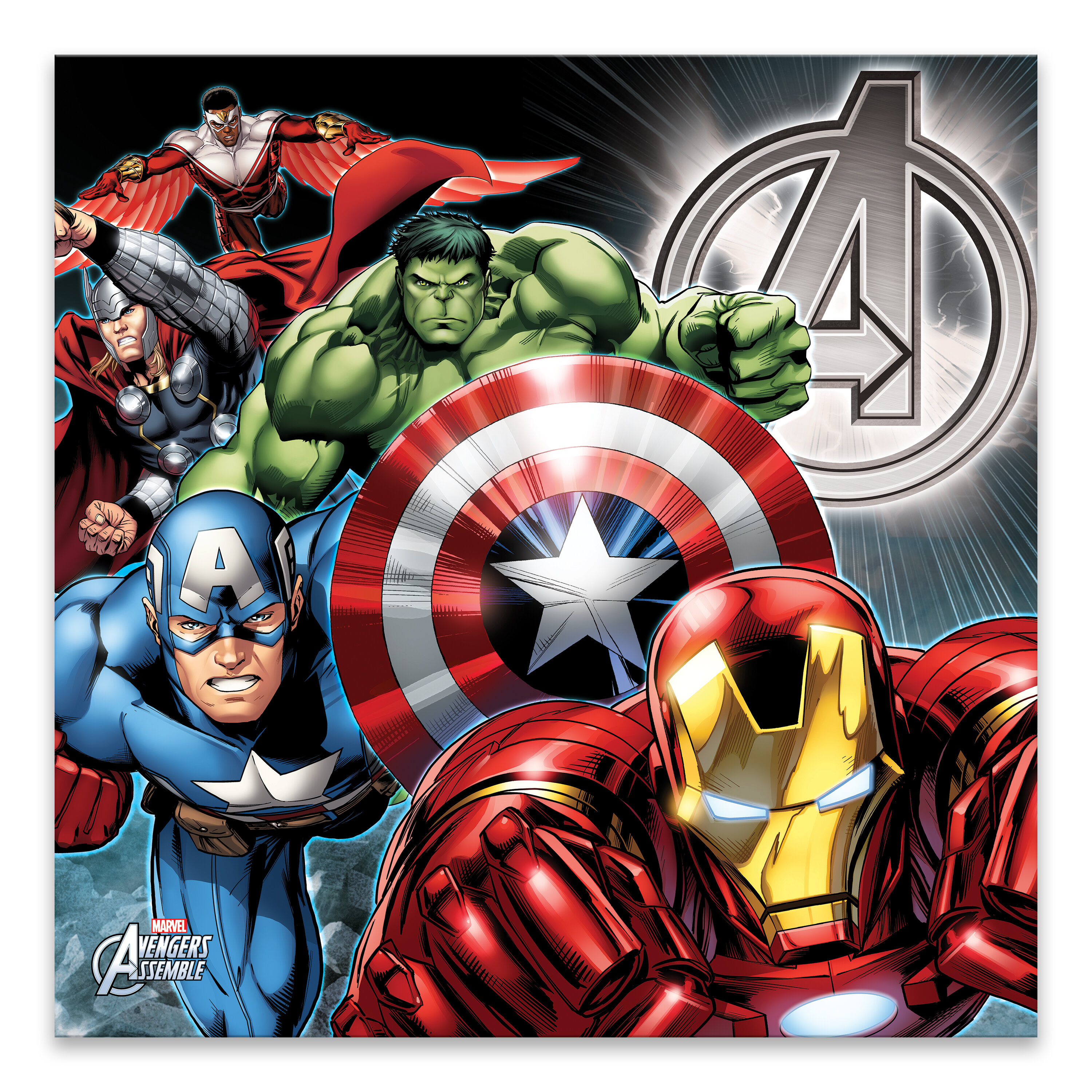 Gallery Direct Marvel Avengers Group Shot Graphic Art Print On