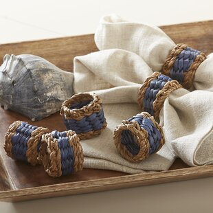 Oviedo Woven Napkin Rings (Set of 6)