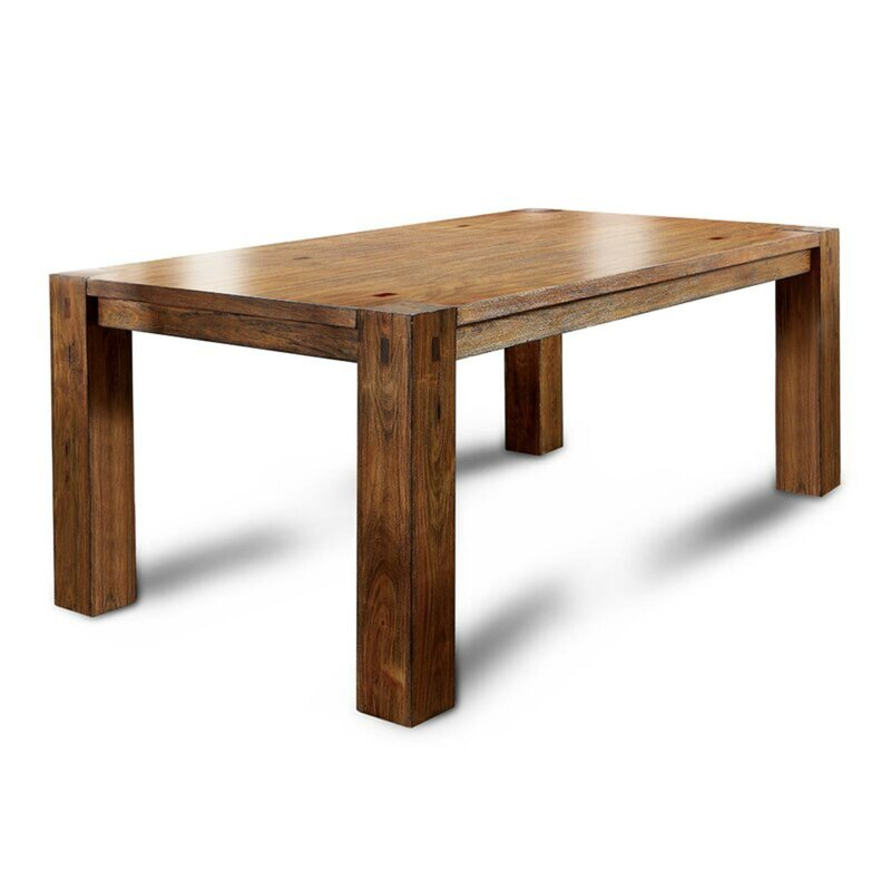 Millwood Pines Rima Acacia Solid Wood Dining Table Reviews Wayfair