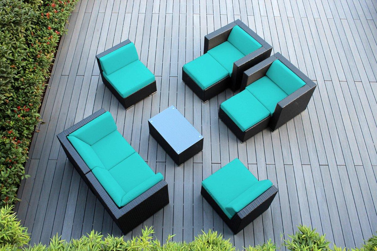 Ohana 9 Piece Sunbrella Sectional Set with Cushions