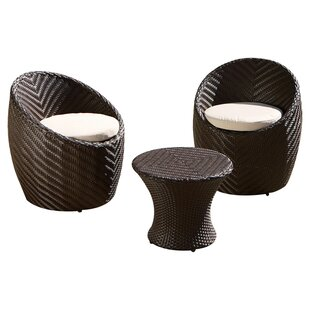 Cabott 3 Piece Bistro Set with Cushions
