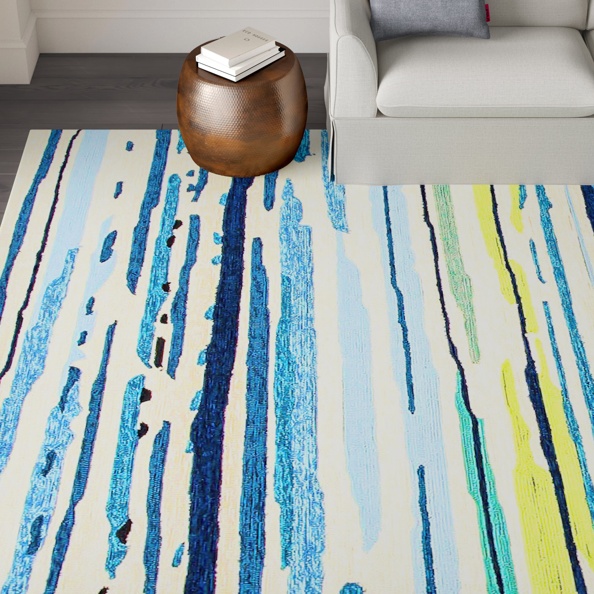 Green Striped Area Rugs You Ll Love In 2021 Wayfair