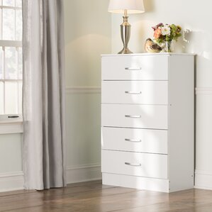Chester 5 Drawer Chest by Andover Mills