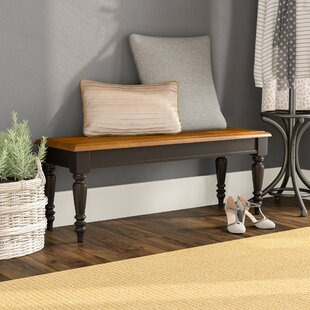 Perna Wood Bench by August Grove Best Choices