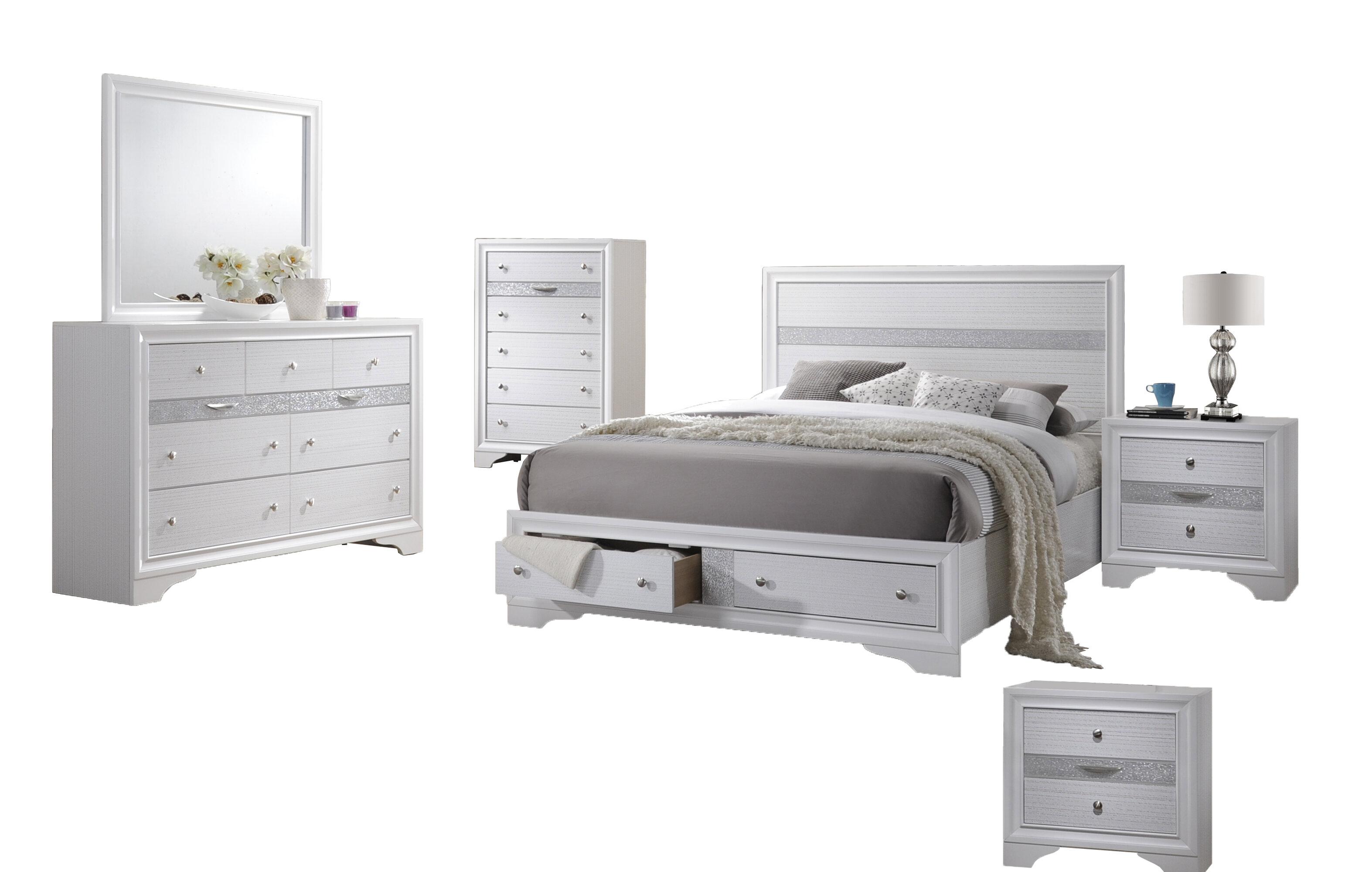 Ewan Standard 7 Piece Bedroom Set