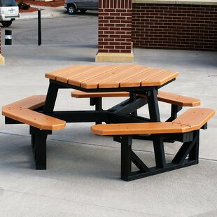 Octagonal Shaped Picnic Tables Youll Love Wayfair - Octagon shaped picnic table