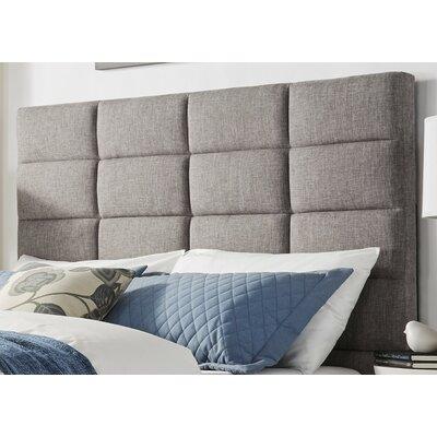 Brayden Studio Rose Upholstered Wood Frame Panel Headboard Size: Full, Upholstery: Gray