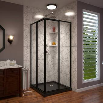 Aston Bromley Frameless 32 38 X 72 Rectangle Hinged Shower Enclosure Reviews Wayfair