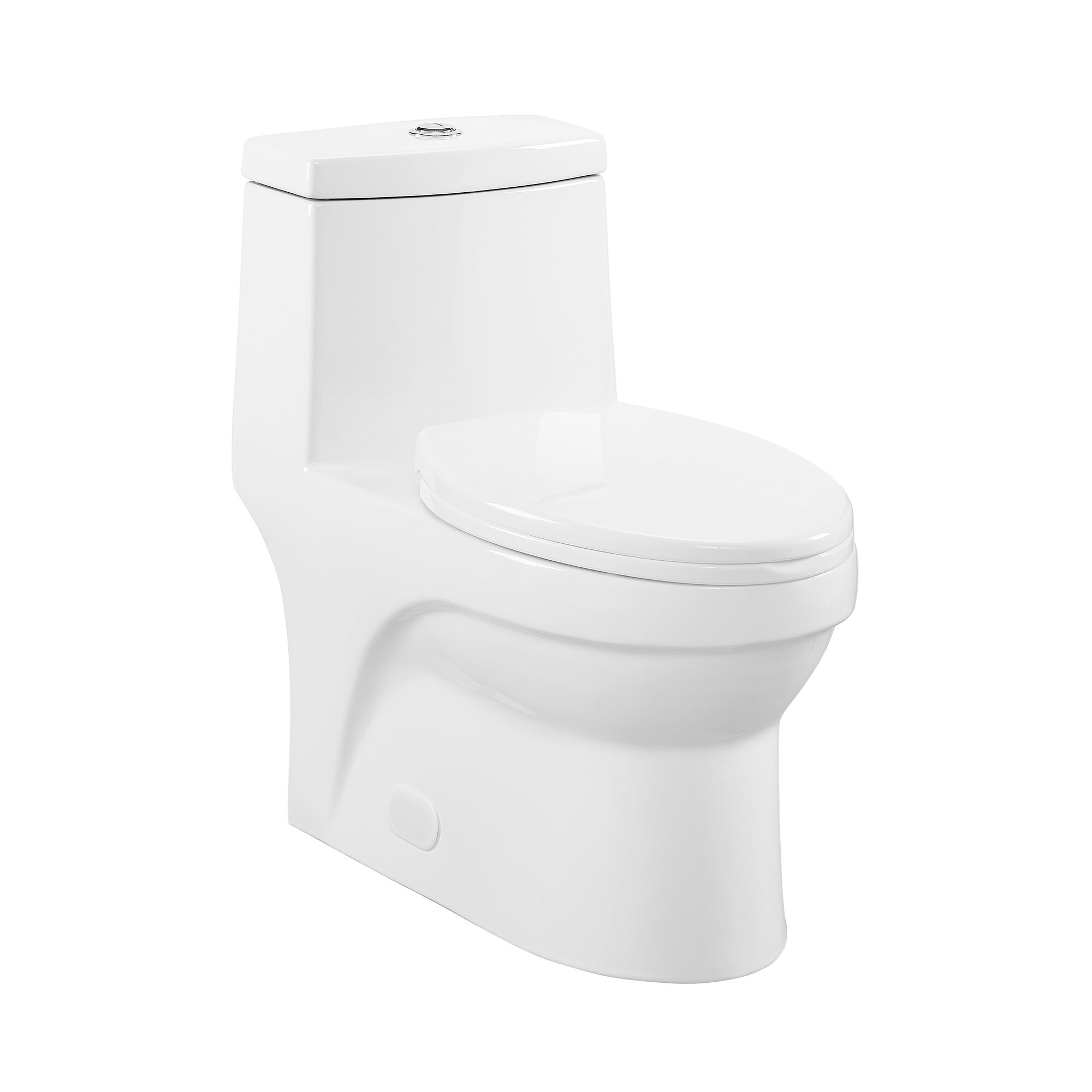 Swiss Madison Virage 1 28 Gpf One Piece Toilet Seat Included Reviews Wayfair