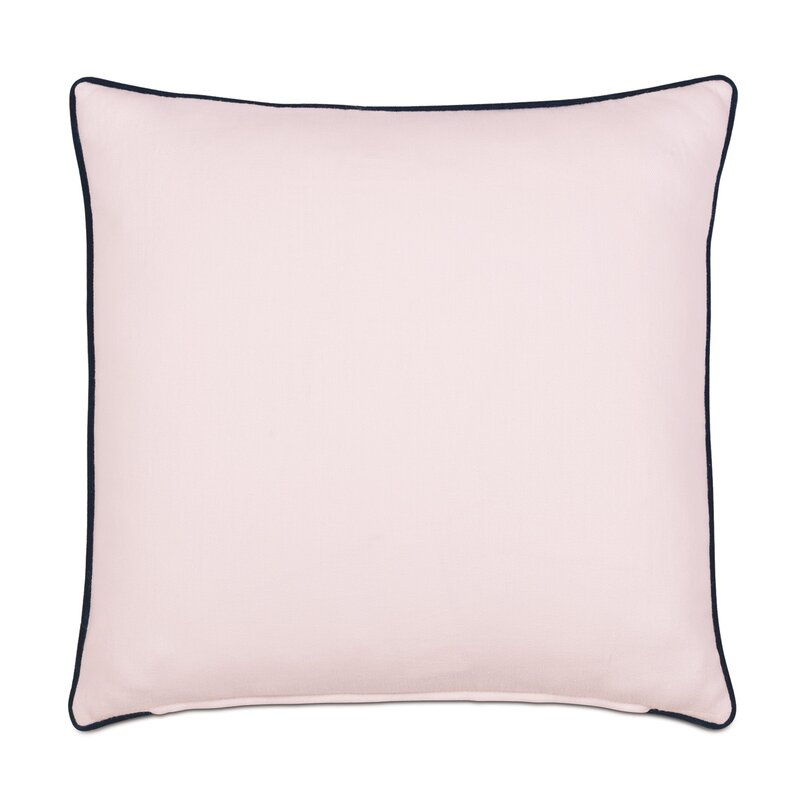 Barclay Butera Priya Blush Square Linen Pillow Cover And Insert