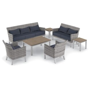 Saint-Pierre 7 Piece Lounge Rattan Sofa Set with Cushions
