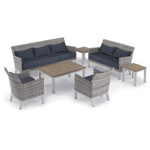 Saint-Pierre 7 Piece Lounge Rattan Sofa Set with Cushions