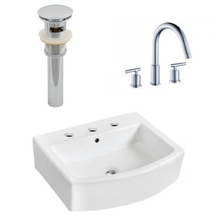 Ceramic 22 Bathroom Sink with Faucet and Overflow ByRoyal Purple Bath Kitchen