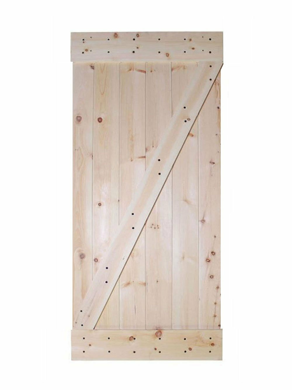 Incroyable Calhome Wood 1 Panel Unfinished Interior Barn Door | Wayfair