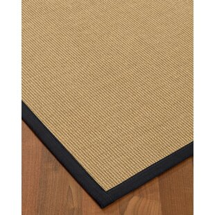 Atwell Border Hand-Woven Beige/Midnight Blue Area Rug by Bayou Breeze