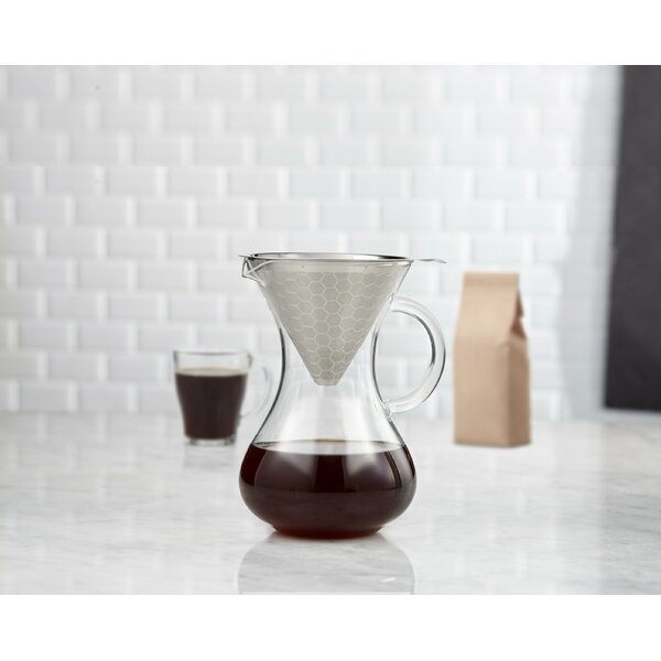 Brilliant Stainless Steel Coffee Filter Funnel And Carafe Wayfair