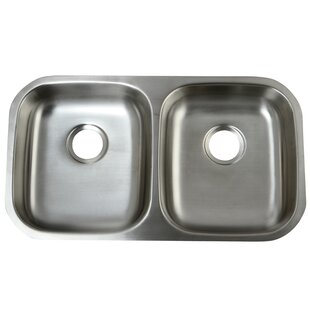 Ada compliant shallow sink wayfair loft 3225 x 185 undermount 18 gauge ada compliant double bowl kitchen sink workwithnaturefo