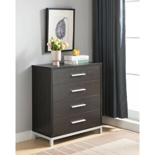 Budget Hodge Utility 4 Drawer Chest by Wrought Studio