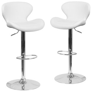 Guajardo Adjustable Height Swivel Bar Stool (Set of 2) Orren Ellis