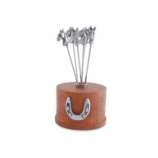 Compare & Buy Equestrian 7 Piece Cheese Pick Set By Vagabond House