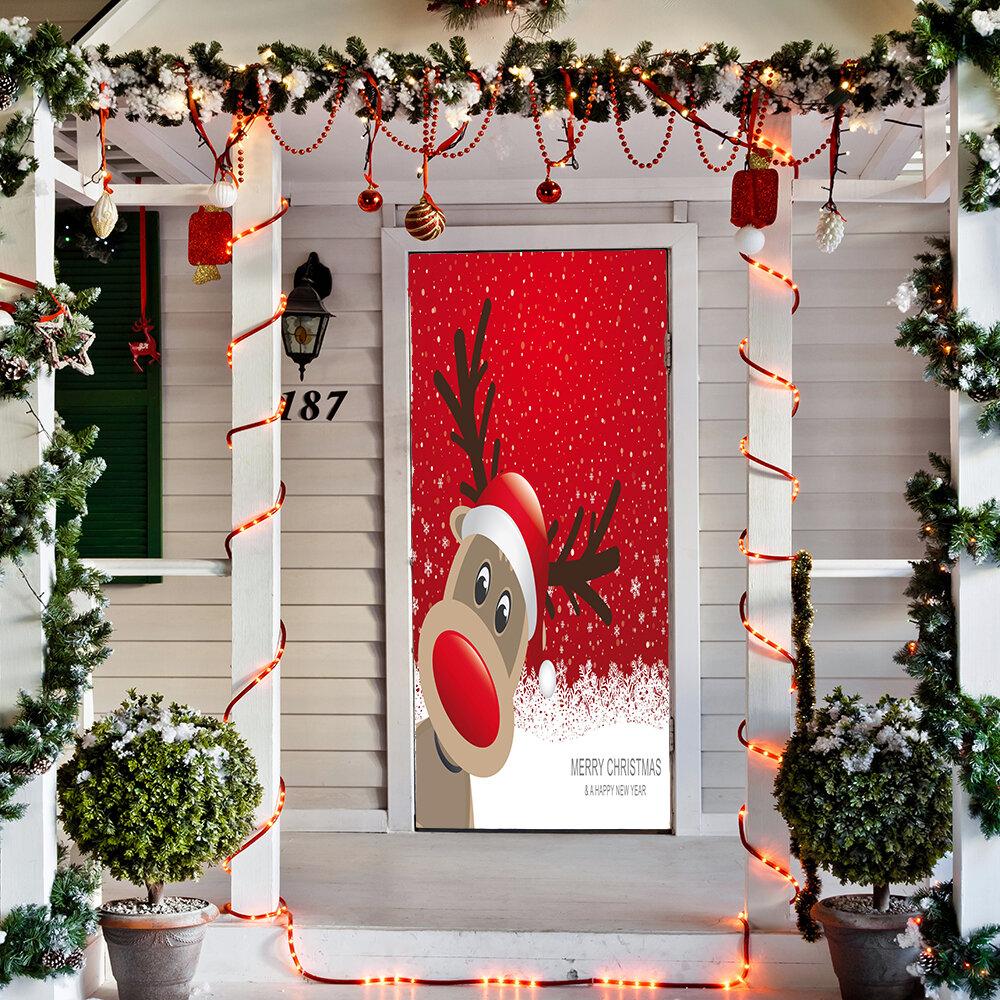 Door Mural Animal Reindeer Outdoor Christmas Decorations You Ll Love In 2021 Wayfair Ca