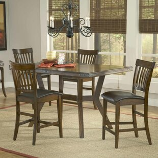 Harkness 5 Piece Counter Height Dining Set Loon Peak