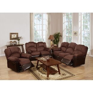 Cannady Reclining 3 Piece Living Room Set Red Barrel Studio Bargain