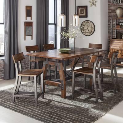 56c7e7ab9dd2 Three Posts Whiteland 7 Piece Solid Wood Dining Set & Reviews   Wayfair