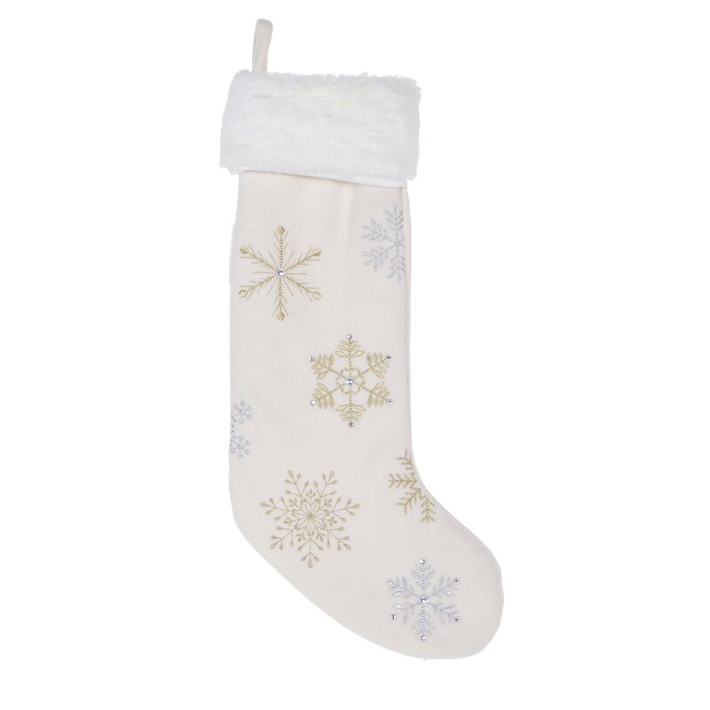 14 Karat Home Inc. Snowflakes Stocking