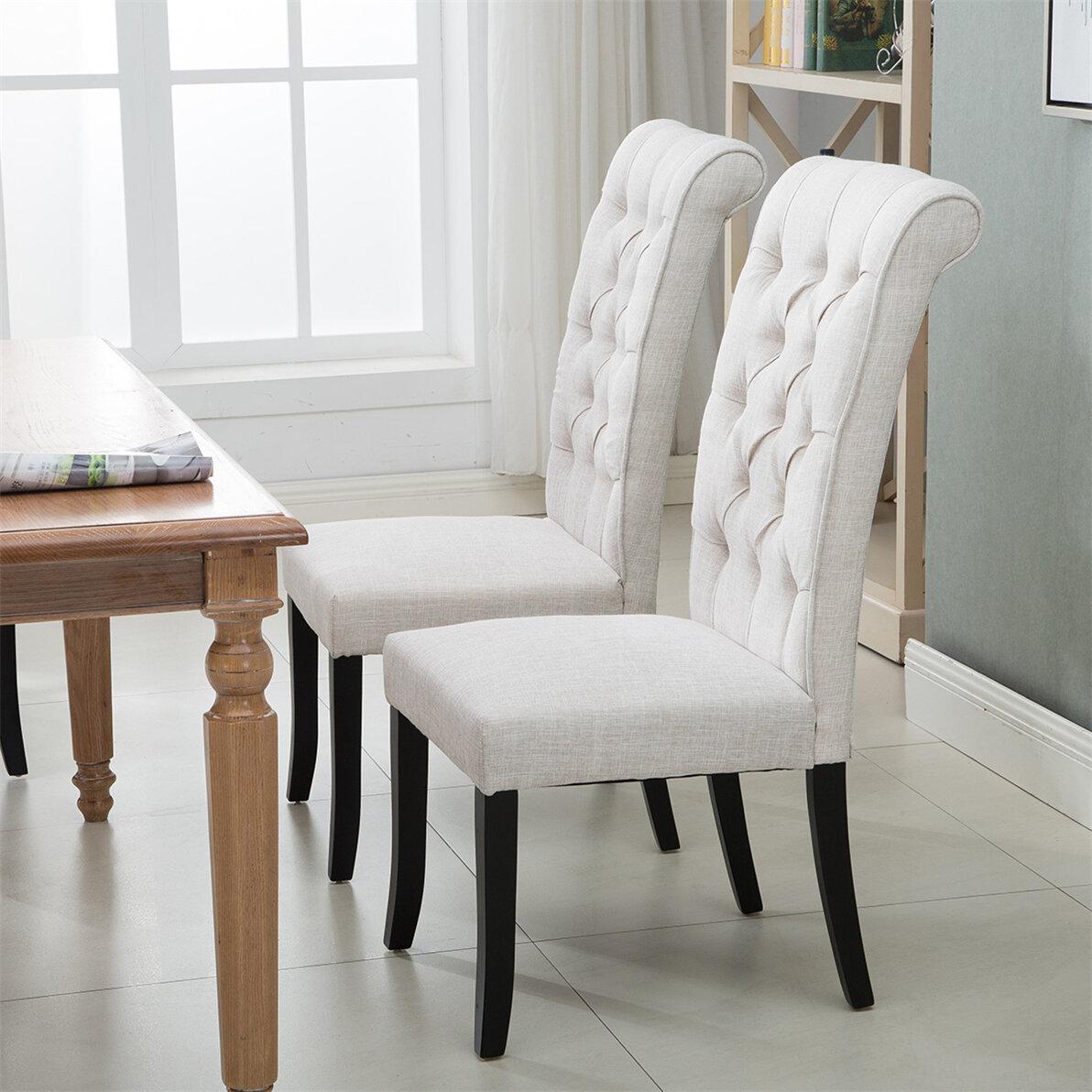 Gracie Oaks Rillie Tufted Upholstered Diningchair Wayfair