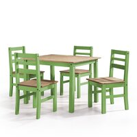 Deals on Shrewsbury 5 Piece Solid Wood Dining Set