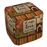 Love Never Fails Pouf by Manual Woodworkers & Weavers