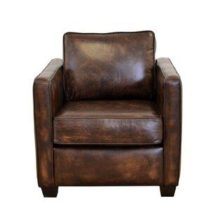 Salisbury Genuine Top Grain Leather Club Chair
