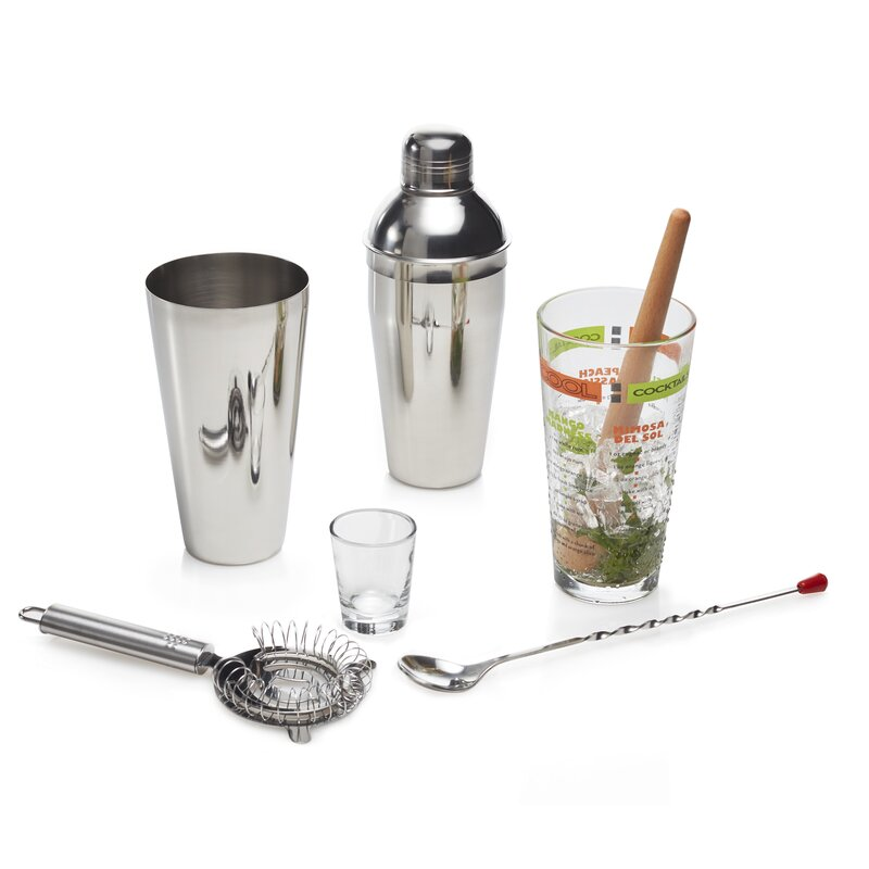 Mixology 7 Piece Stainless Steel Orted Glware Set