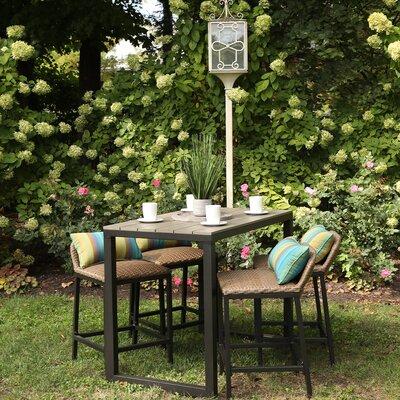 Alijha 5 Piece Bar Height Dining Set With Cushions by Brayden Studio Bargain