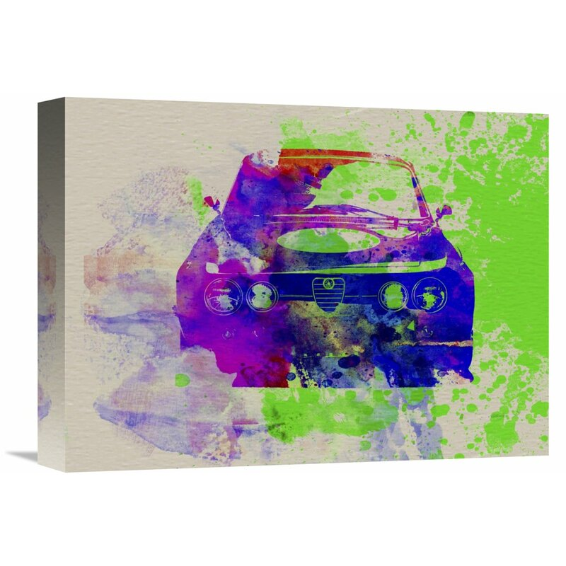Naxart Alfa Romeo Front Watercolor 1 Graphic Art On Wrapped Canvas Wayfair