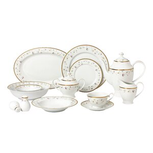 La Luna Bone China 57 Piece Dinnerware Set, Service for 8
