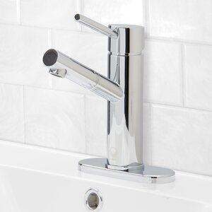 Noma Single Lever Basin Bathroom Faucet with Deck Plate